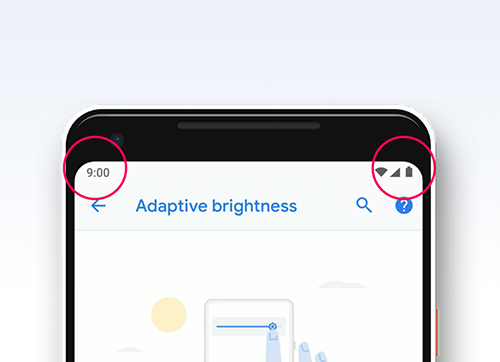 Android Pie Status Bar